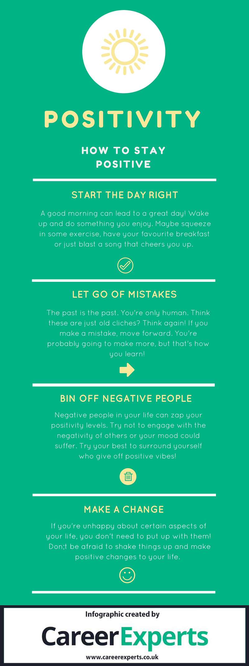 how to stay positive infographic