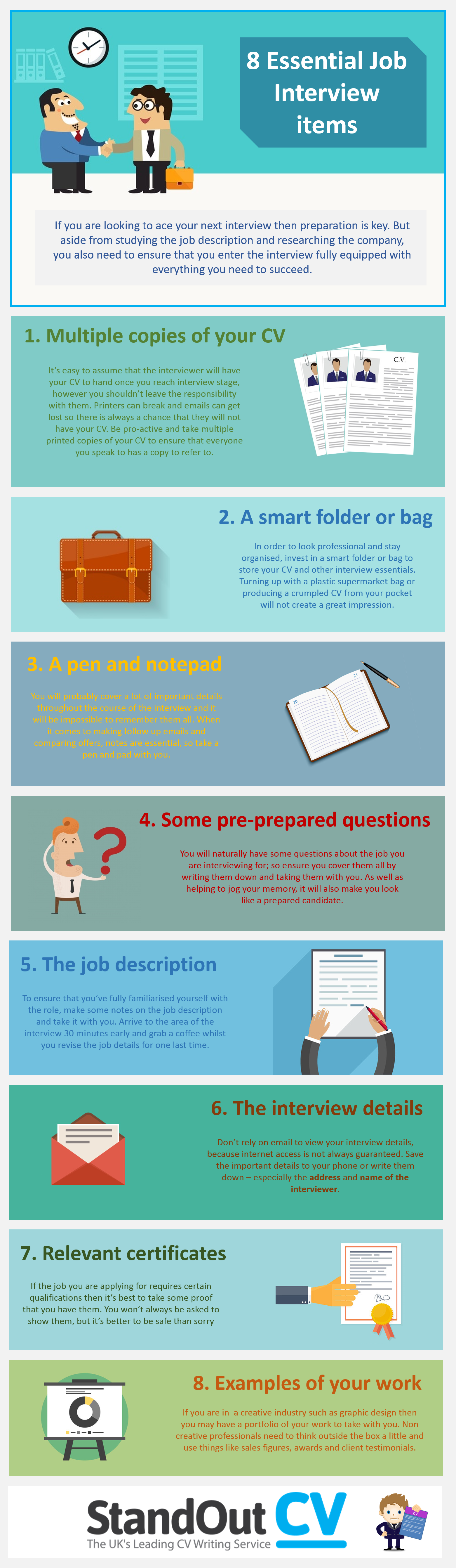What to take to an interview