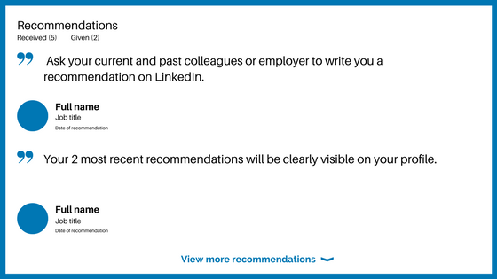 LinkedIn for beginners recommendations