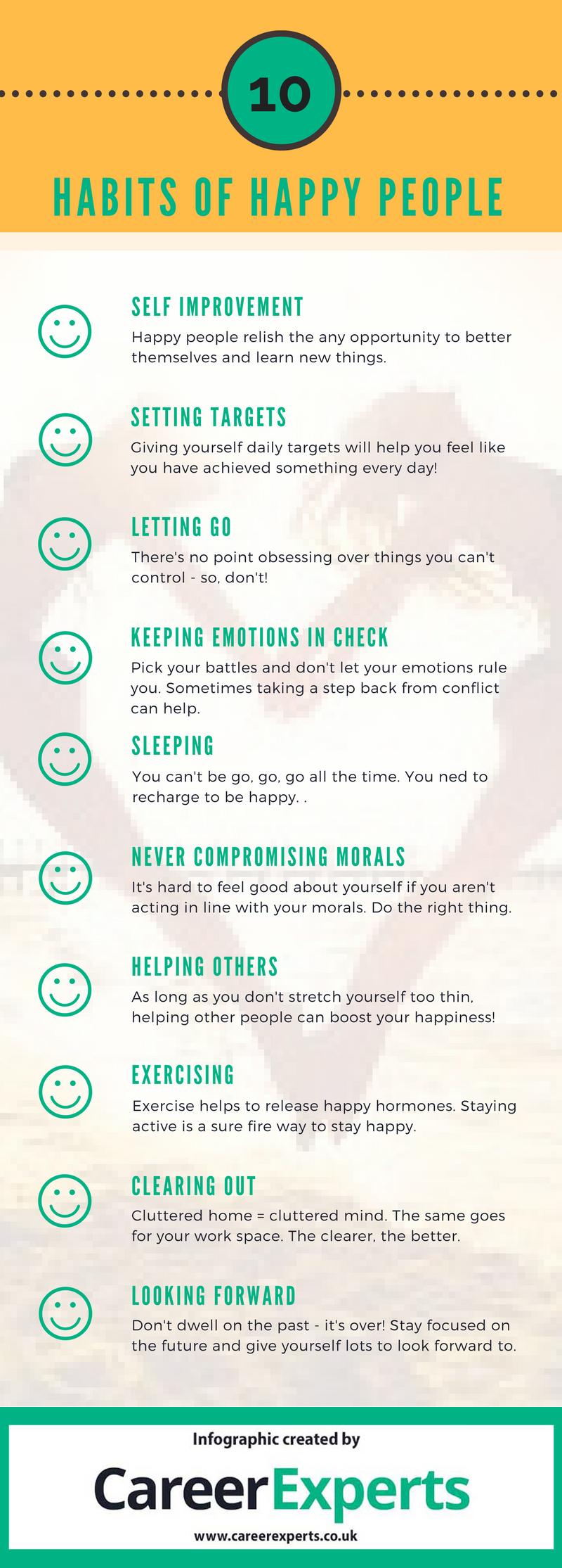 10 habits of happy people