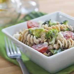 healthy lunch ideas for work broccoli and feta pasta salad