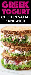 healthy lunch ideas for work greek yoghurt chicken salad sandwich