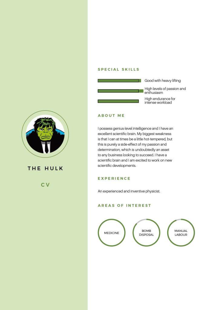 The Hulk CV