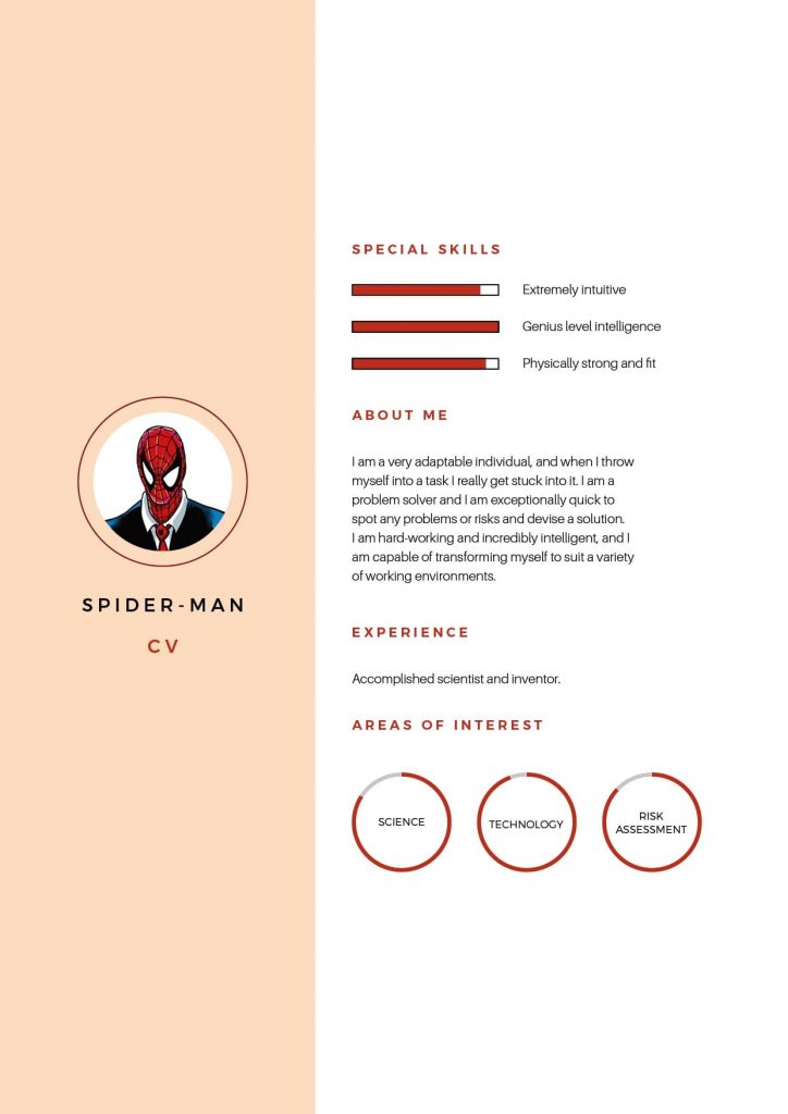 Spiderman CV