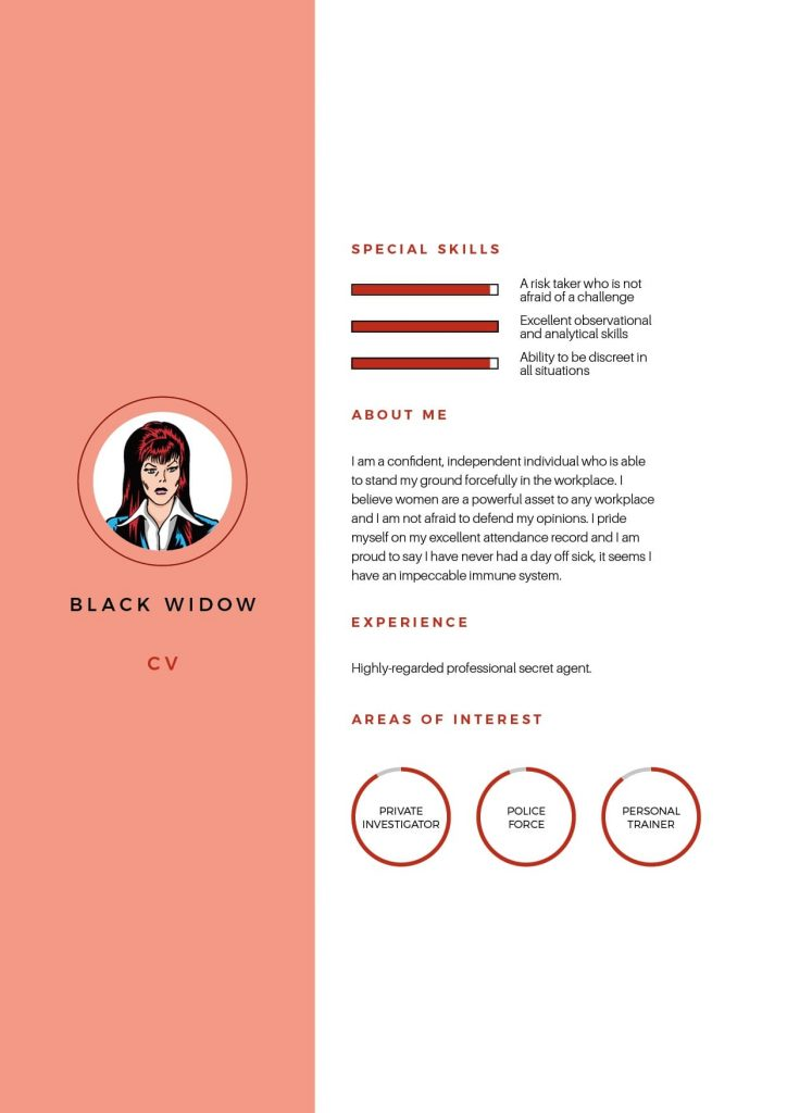 Black Widow CV
